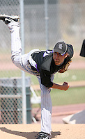 Chaz Roe, Colorado Rockies 2010 minor league spring training..Photo by:  Bill Mitchell/Four Seam Images.
