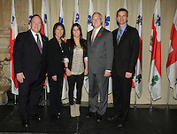 October 29 2012 - Montreal, Quebec, CANADA - Gerald Tremblay, Mayor of Montreal receive at City Hall  local athletes who took part in London 2012  Olympics and Paralympics games. IN PHOTO : Meghan Benfeito