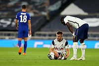29th September 2020; Tottenham Hotspur Stadium, London, England; English Football League Cup, Carabao Cup, Tottenham Hotspur versus Chelsea; Eric Dier of Tottenham Hotspur goes down injured