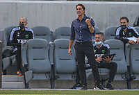LOS ANGELES, CA - APRIL 17: Josh Wolff head coach of Austin FC during a game between Austin FC and Los Angeles FC at Banc of California Stadium on April 17, 2021 in Los Angeles, California.