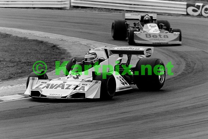 Lella Lombardi at the 1976 John Player British Grand Prix 1976 at Brands Hatch.
