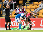 St Johnstone v Sunderland…15.07.17… McDiarmid Park… Pre-Season Friendly<br />David Wotherspoon and Jack Rodwell call for help for Zander Clark after he was knocked out<br />Picture by Graeme Hart.<br />Copyright Perthshire Picture Agency<br />Tel: 01738 623350  Mobile: 07990 594431