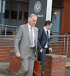 Charles Green exits Ibrox Stadium along with Andrew Dickson