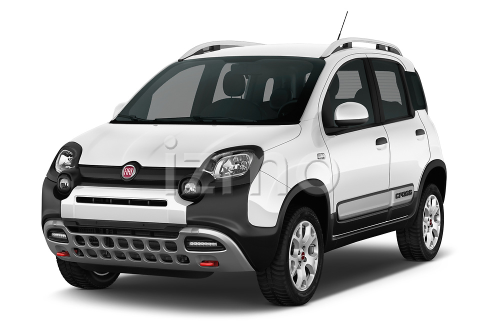2017 Fiat Panda Cross 5 Door SUV Angular Front stock photos of front three quarter view