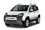 2017 Fiat Panda Cross 5 Door SUV Angular Front stock photos of front three quarter view