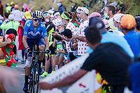 Marc Soler (ESP/Movistar) up the Col de Peyresourde<br /> <br /> Stage 8 from Cazères-sur-Garonne to Loudenvielle 141km<br /> 107th Tour de France 2020 (2.UWT)<br /> (the 'postponed edition' held in september)<br /> ©kramon