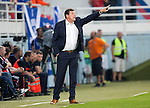 Spartak Trnava v St Johnstone...07.08.14  Europa League Qualifier 3rd Round<br /> Tommy Wright shouts instructions<br /> Picture by Graeme Hart.<br /> Copyright Perthshire Picture Agency<br /> Tel: 01738 623350  Mobile: 07990 594431
