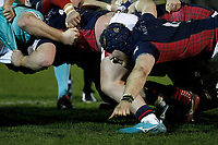 Luke Frost of London Scottish during the Greene King IPA Championship match between London Scottish Football Club and Nottingham Rugby at Richmond Athletic Ground, Richmond, United Kingdom on 7 February 2020. Photo by Carlton Myrie.