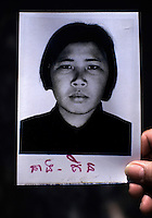 Tuy Kin, a guard at the S-21 detention centre at Tuol Sleng, where over 16,000 inmates were killed between 1975 and 1979. She once confessed to executing 300 people, but now claims she didn't kill anybody. The photograph was taken by the Khmer.