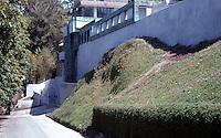 Lloyd Wright: Samuels-Navarro House, 1926-1928. 5609 Valley Oak Drive.  Photo '91.