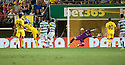 Villarreal's Gerard scores their third goal .