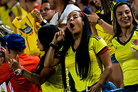Supporters of Colombia during the friendly match between Spain and Colombia at Nueva Condomina Stadium in Murcia, jun 07, 2017. Spain. (ALTERPHOTOS/Rodrigo Jimenez) (NortePhoto.com) (NortePhoto.com)