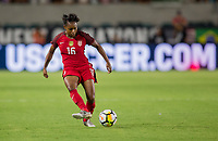 Carson, CA - Thursday August 03, 2017: Taylor Smith during a 2017 Tournament of Nations match between the women's national teams of the United States (USA) and Japan (JAP) at StubHub Center.