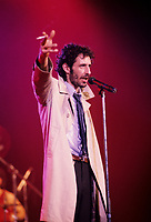 Jean-Marc Pisapia, singer The Box in concert / en spectacle<br /> Circa 1987- Montreal<br /> Photo : (c) by Pierre Roussel / Images Distribution