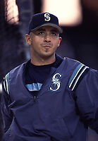 Carlos Guillen of the Seattle Mariners during a 2000 season MLB game at Angel Stadium in Anaheim, California. (Larry Goren/Four Seam Images)