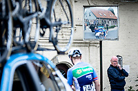 Pim Ligthart (NED/Total Direct Energie) having  mechanic assistance. <br /> <br /> GP Marcel Kint 2019<br /> One Day Race: Kortrijk – Zwevegem 188.10km. (UCI 1.1)<br /> Bingoal Cycling Cup 2019
