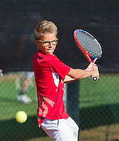 Netherlands, Rotterdam August 05, 2015, Tennis,  National Junior Championships, NJK, TV Victoria, Kaj van den Heuvel<br /> Photo: Tennisimages/Henk Koster