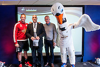 Wednesday  27 April 2016<br /> Pictured: Lee Trundle and Alan Curtis, First-team coach of Swansea City <br /> Re:  Swansea City trust Awards