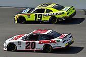 #20: Harrison Burton, Joe Gibbs Racing, Morton Buildings/DEX Imaging Toyota Supra, #19: Brandon Jones, Joe Gibbs Racing, Menards/Swiffer Toyota Supra