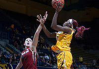 Gennifer Brandon of California shoots during the game against Washington State at Haas Pavilion in Berkeley, California on February 27th, 2014.   California defeated Washington State, 75-68.