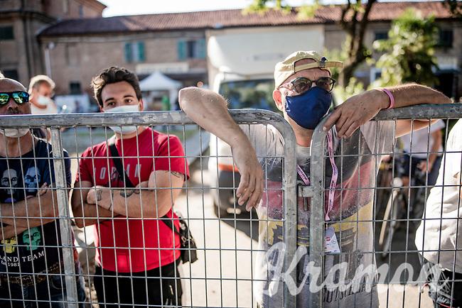finish line fans<br /> <br /> 101st Milano-Torino 2020 (UCI 1.Pro)<br /> 1 day race from Mesero to Stupinigi (198km)