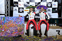 15th March 2020, WRC of Mexico final day after  final three stages, SS19 to SS21;  Rally winners Sebastien Ogier (FRA) and Julien Ingrassia (FRA) - Toyota Yaris WRC