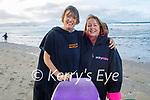 Grace Pinkeard and Kathryn Smith from Ardfert enjoying a stroll in Banna beach on Sunday.