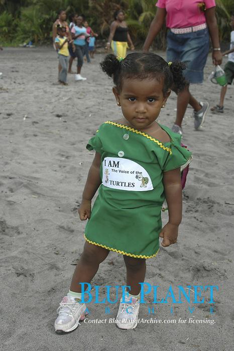 Rosalie Sea Turtle Initiative, Dominica, child