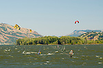 Windsurfers on the Columbia River