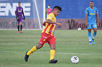MONTERÍA- COLOMBIA, 25-02-2021:Jhonny Vasquez del Deportivo Pereira durante partido por la fecha 9 entre Jaguares de Córdoba y Deportivo Pereira como parte de la Liga BetPlay DIMAYOR 2021 jugado en el estadio  Jaraguay -Municipal de Montería de la ciudad de Montería. / Jhonny Vasquez of Deportivo Pereira during match for the date 9 between Jaguares de Cordoba  and Deportivo Pereira as a part BetPlay DIMAYOR League I 2020 played at  Jaraguay -Municipal de Montería  stadium in Monteria city.. Photo: VizzorImage / Felipe López /  Contribuidor