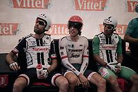 Laurens ten Dam (NED/Sunweb), Koen de Kort (NED/Trek-Segafredo) & Michael Matthews (AUS/Sunweb) ahead of their TT race<br /> <br /> 104th Tour de France 2017<br /> Stage 20 (ITT) - Marseille › Marseille (23km)