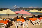 Ziwataneo beach scene with cruise ship, Mexico