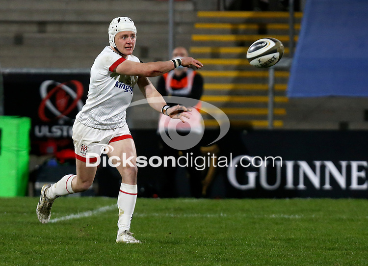 19th March 2021;   Michael Lowry during the final round of the Guinness PRO14 against Zebre Rugby held at Kingspan Stadium, Ravenhill Park, Belfast, Northern Ireland. Photo by John Dickson/Dicksondigital