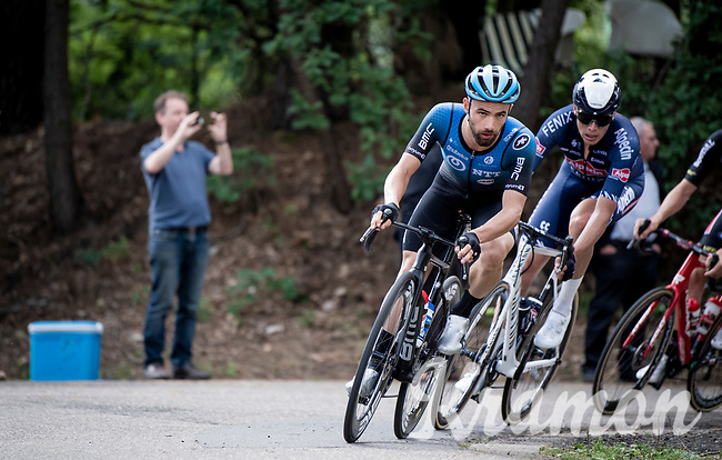 An eager & prominent Victor Campenaerts (BEL/NTT) is happy to be back racing<br /> <br /> the inaugural GP Vermarc 2020 is the very first pro cycling race in Belgium after the covid19 lockdown of Spring 2020 & which was only set up some weeks in advance to accommodate belgian teams by providing racing opportunities asap after the lockdown allowed for racing to restart (but still under strict quarantine / social distancing measures for the public, riders & press)<br /> <br /> Rotselaar (BEL), 5 july 2020<br /> ©kramon