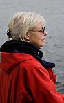 Senior Woman, Whale Watching.