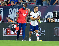 NASHVILLE, TN - SEPTEMBER 5: Sergino Dest #2 of the United States walks off the field during a game between Canada and USMNT at Nissan Stadium on September 5, 2021 in Nashville, Tennessee.