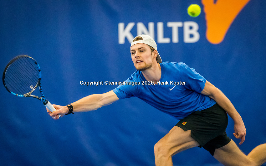 Amstelveen, Netherlands, 17  December, 2020, National Tennis Center, NTC, NK Indoor, National  Indoor Tennis Championships,   : Deney Wasserman (NED) <br /> Photo: Henk Koster/tennisimages.com