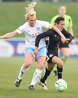 Lisa De Vanna of the Washington Freedom is tackled by Frida Ostberg of the Chicago Red Stars during a WPS match at Maryland Soccerplex on April 11 2009, in Boyd's, Maryland.  The game ended in a 1-1 tie.