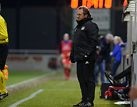 20180126 - OOSTAKKER , BELGIUM : Anderlecht's head coach Patrick Wachel pictured during the quarter final of Belgian cup 2018 , a womensoccer game between KAA Gent Ladies and RSC Anderlecht , at the PGB stadion in Oostakker , friday 27 th January 2018 . PHOTO SPORTPIX.BE   DAVID CATRY