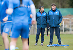 St Johnstone Training…14.04.17<br />Tommy Wright and Callum Davidson pictured during training at McDiarmid Park this morning ahead of tomorrow's game against Aberdeen.<br />Picture by Graeme Hart.<br />Copyright Perthshire Picture Agency<br />Tel: 01738 623350  Mobile: 07990 594431