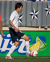 Sacha Kljestan holds the ball. The USA defeated China, 4-1, in an international friendly at Spartan Stadium, San Jose, CA on June 2, 2007.