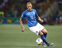 Football: Uefa under 21 Championship 2019, Italy -Poland, Renato Dall'Ara stadium Bologna Italy on June19, 2019.<br /> Italy's Federico Dimarco in action during the Uefa under 21 Championship 2019 football match between Italy and Poland at Renato Dall'Ara stadium in Bologna, Italy on June19, 2019.<br /> UPDATE IMAGES PRESS/Isabella Bonotto