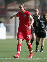 Abby Wambach. Washington Freedom defeated FC Gold Pride 4-3 at Buck Shaw Stadium in Santa Clara, California on April 26, 2009.