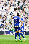 Real Madrid's Gareth Bale and Deportivo Alaves's Manuel Alejandro Garcia during La Liga match between Real Madrid and Deportivo Alaves at Stadium Santiago Bernabeu in Madrid, Spain. April 02, 2017. (ALTERPHOTOS/BorjaB.Hojas)