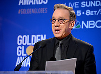 LOS ANGELES, USA. December 09, 2019: Tim Allen at the nominations announcement for the 77th Golden Globe Awards at the Beverly Hilton Hotel.<br /> Picture: Paul Smith/Featureflash