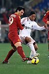 Ronaldinho (Milan) Burdiso (Roma).Roma vs Milan.Campionato calcio Serie A.Stadio Olimpico, Roma, 06/03/2010.Photo Antonietta Baldassarre Insidefoto