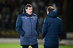 St Johnstone v Celtic…..29.01.20   McDiarmid Park   SPFL<br />Saints manager Tommy Wright talking with assistant Alec Cleland<br />Picture by Graeme Hart.<br />Copyright Perthshire Picture Agency<br />Tel: 01738 623350  Mobile: 07990 594431