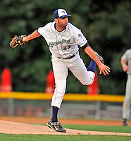 3 September 2008: Vermont Lake Monsters' pitcher Pat McCoy on the mound during a NY Penn-League game against the Tri-City Valley Cats at Centennial Field in Burlington, Vermont. The Lake Monsters defeated the Valley Cats 6-5 in extra innings. Mandatory Photo Credit: Ed Wolfstein Photo