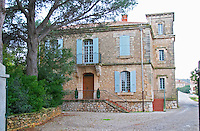 Chateau Mire l'Etang. La Clape. Languedoc. The main building. France. Europe.