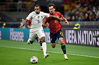 Jules Kounde of France and Mikel Oyarzabal of Spain during the Uefa Nations League final football match between Spain and France at San Siro stadium in Milano (Italy), October 10th, 2021. Photo Andrea Staccioli / Insidefoto